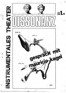 Titelseite Dissonanz