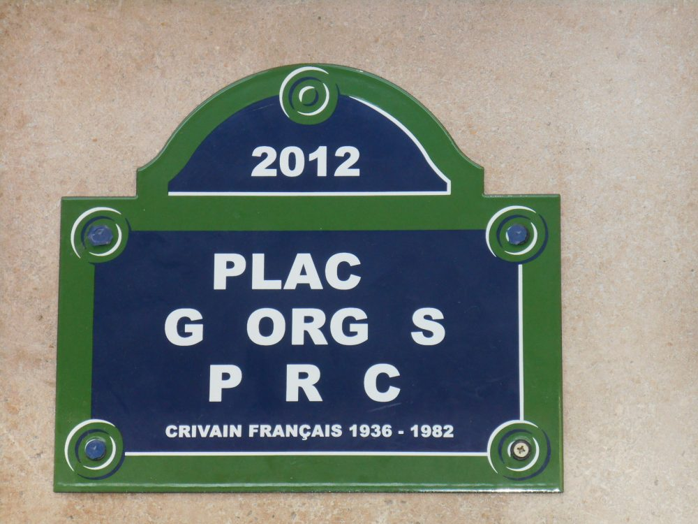 Plaque Georges Perec