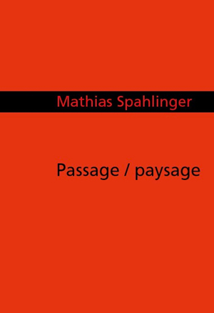 """passage/paysage"", Cover Partitur"