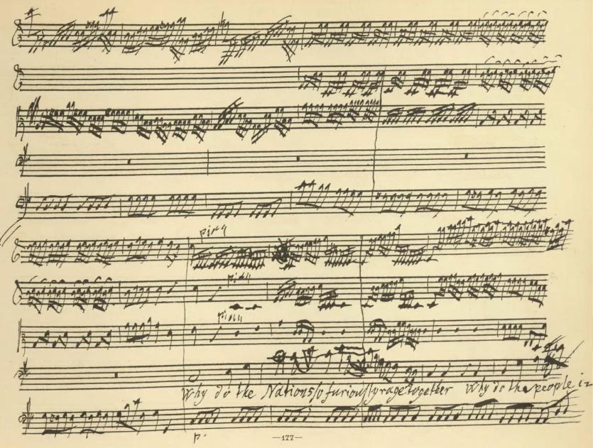 Händel, Messiah, Ausschnitt Partitur