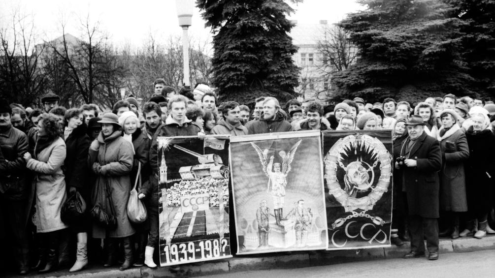 Antisowjetische Demonstration in Litauen